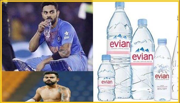 Brand & Company of Virat Kohli Drinking Water